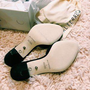 Alterre Shoes - Alterre Black Suede Mule w/ Interchangeable Strap